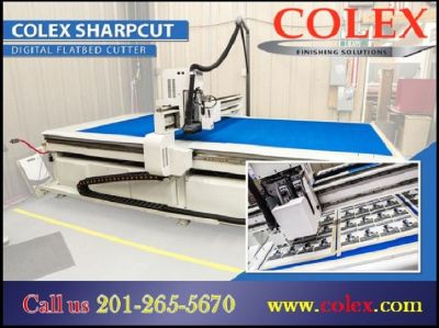Versatile Colex Sharpcut Digital Flatbed Cutter| 201-265-5670 | Elmwood Park, NJ 7407