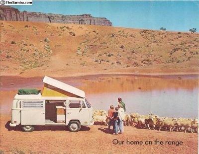 1970 (?) Westfalia Westy Camper Bus Sales Brochure