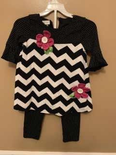 Little Girls Bonnie Jean Brand Outfit Size 2T