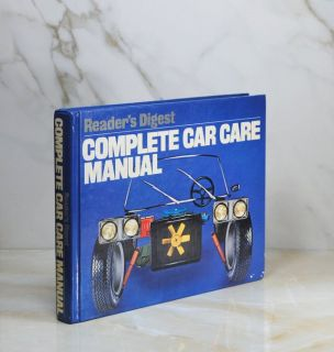 Vintage 1981 Readers Digest HUGE Complete Car Care Manual 480 Page Hard Cover Coffee Table Book
