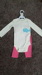 Carters onesie and pant set 12 months