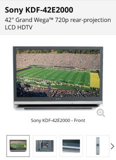 "Sony 42"" Lcd HD TV"