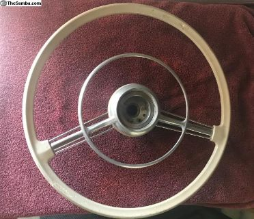 original 356A steering wheel and horn ring