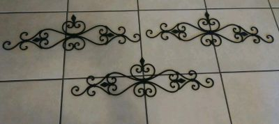 Set of 3 wrought iron wall hanging