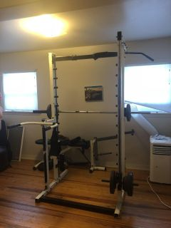 Compound Weight Set with Weight Bench