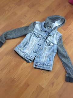 Jean jacket hoodie from Ardene size small