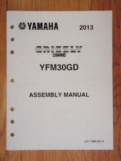 Buy GENUINE YAMAHA 2013 GRIZZLY 300 ASSEMBLY MANUAL ATV 4 WHEELER NEW motorcycle in Prior Lake, Minnesota, United States, for US $9.99