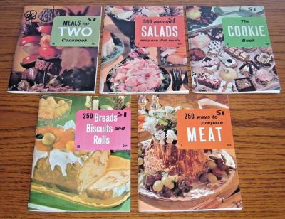 Vintage 70s Lot of 5 Cook Books Recipe Collections by Culinary Arts Institute