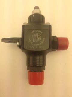 Sell NEW! Waterman Fuel Regulator / single ports with fittings / NAS1520HMC / NASCAR motorcycle in Brownsburg, Indiana, United States, for US $95.00