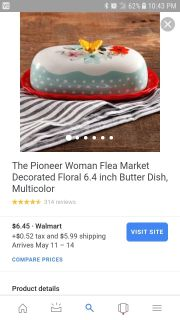 Looking for Pioneer Woman Butter Dish.