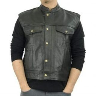 Mens Motorcycle Leather Vests