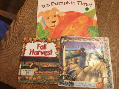 Set of books about fall