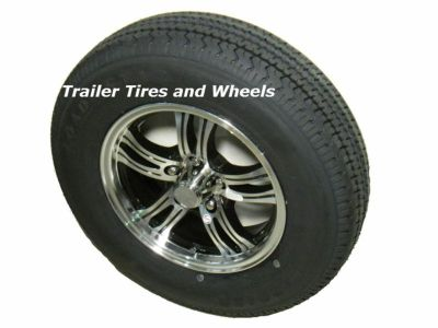"Purchase PBK 205/75R15 LRD Radial Trailer Tire on 15"" 5 Lug Aluminum Trailer Wheel acc motorcycle in Edon, Ohio, US, for US $212.00"