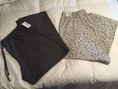Two pair of lounging pants from Dillards size 2X
