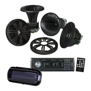 "Purchase Kicker KMS674C 6.75"" Marine Component Speakers w/ In-Dash Receiver & Radio Cover motorcycle in Nixa, Missouri, United States, for US $379.95"
