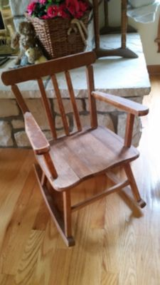 Vintage child's rocking chair