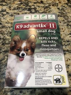 NEW. UnOpened. K9 Advantix II for small dogs. 6 pack. Retails at $62