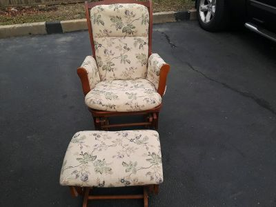 Rocking chairs with rocking stooles