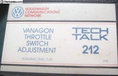 Vanagon VHS Tech Talk tapes