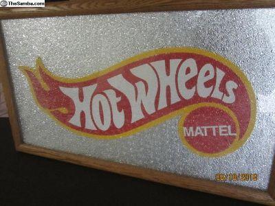 Hotwheels sign 32 x 18 1/2