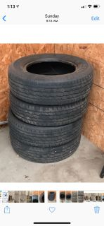 Set of 4 General Tires size P215/70 R16 quarter inch tread $25 for all four