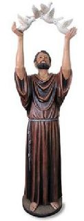 $564 Saint Francis, St joseph, Immaculate heart, Saint Anthony Church Statues