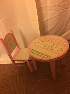 Doll Chair and Table Set