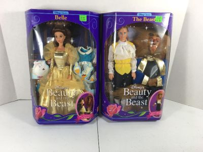 Vintage Beauty and The Beast Barbie dolls in package