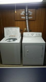 Maytag washer and electric dryer.
