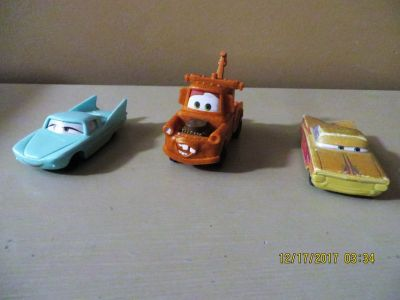 "2006 4"" McDonald's Happy Meal Toy Disney Pixar Cars - Lot of 3"