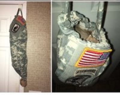 handmade military plastic bags holder