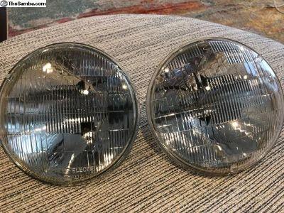 """Vintage GE Sealed Beam 7"""" Headlights"""