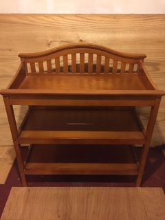 Changing table with storage.