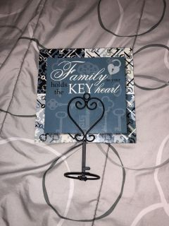 Family theme walk decor and candle holder