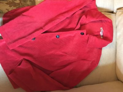 Red corduroy jacket, L