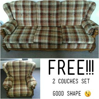 Free couches!!! First person come, first person pick!