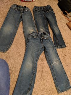 3 pairs size 6 jeans