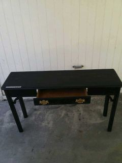 (ANTIQUE)Real wood Desk table/TV stand in good condition