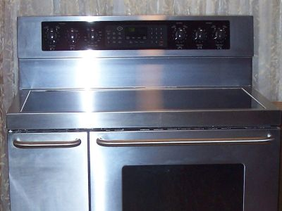 "Kenmore Elite 40"" Double Oven Stainless Steel Electric Range"