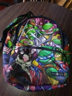 "18.5"" Teenage Mutant Ninja Turtles Canvas Backpack School Travel Space"