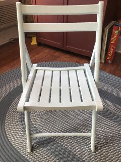 Blue wood fold up chair