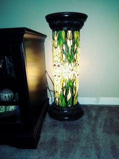 Tiffany Style Pedestal Lamp