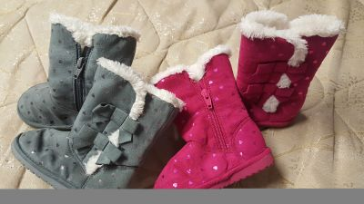 2 pair of toddler Winter boots