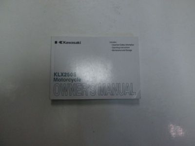 Sell 2012 Kawasaki KLX250S Motorcycle Owners Manual MINOR DAMAGE FACTORY OEM BOOK 12 motorcycle in Sterling Heights, Michigan, United States, for US $29.99