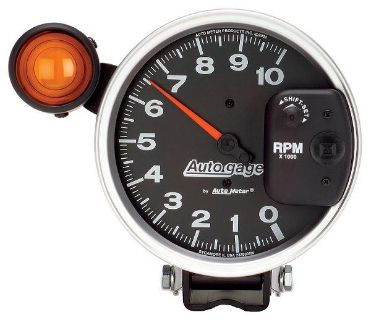 """Buy Auto Meter 233904 Auto Gage 5"""" Pedestal Tachometer Shift-Lite Gauge 10,000 RPM motorcycle in Greenville, Wisconsin, US, for US $174.68"""