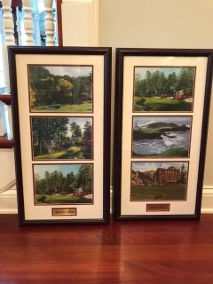 Beautifully framed golf course pictures