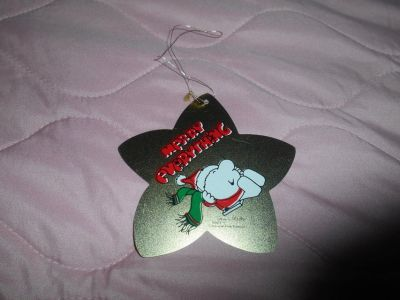 "ZIGGY Christmas Holiday Star Tree Ornament! ""MERRY EVERYTHING"""