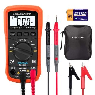 Auto-Ranging Digital Multimeter Home Measuring Tools with Backlight LCD Display by Crenova
