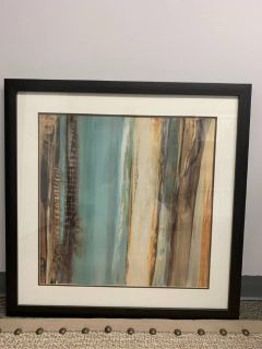 Artwork - Aqua And Tan Framed Print