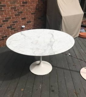 Pair of Knoll International Marble Top Tables